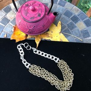 Fossil chain necklace.